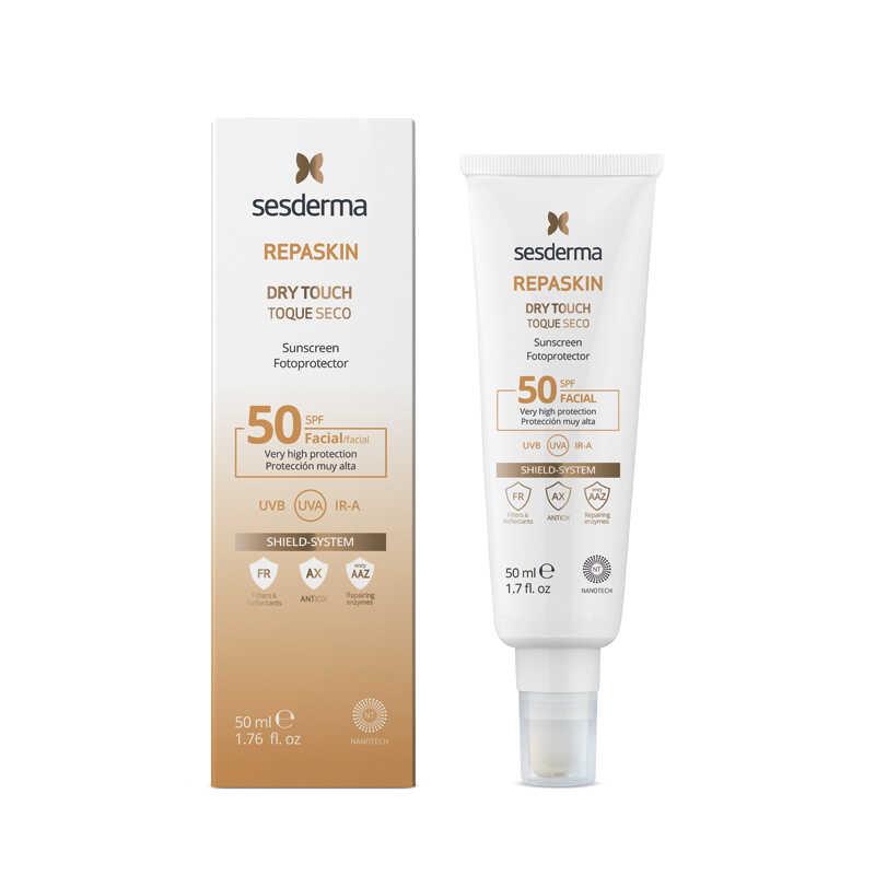 SESDERMA REPASKIN Dry Touch Sunscreen SPF50 New