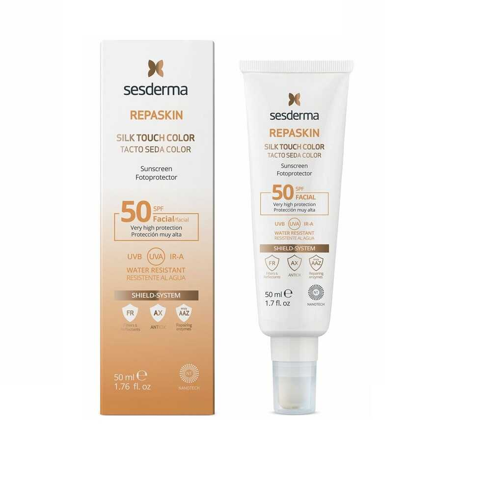 SESDERMA REPASKIN Silk Touch Color SPF50 New